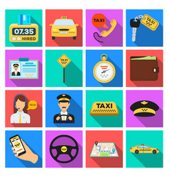 Parking dispatcher taxi driver are all for taxi vector
