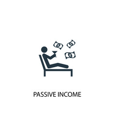 Passive income icon simple element vector