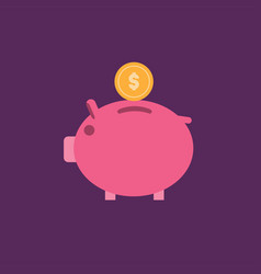 piggy bank icon set of great flat icons with vector image