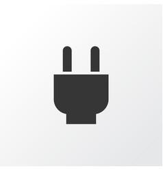 plug icon symbol premium quality isolated socket vector image
