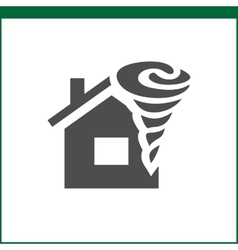 Property insurance icon vector image