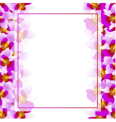 Purple vanda miss joaquim orchid banner card vector