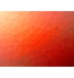 Red-orange low poly background vector