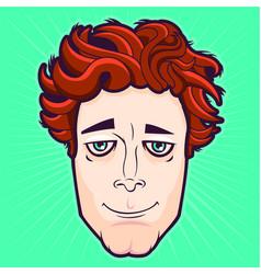 redhead character vector image