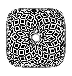 rotation pattern in square shape vector image