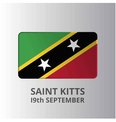 Saint kitts 19th september independence day vector