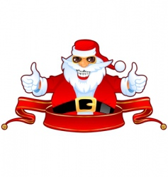 Santa and banner vector image