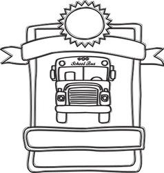 School bus banner vector