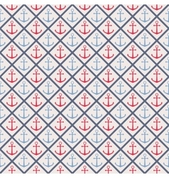 Seamless pattern with cross lines and anchor vector image