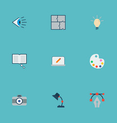 set of creative icons flat style symbols with idea vector image