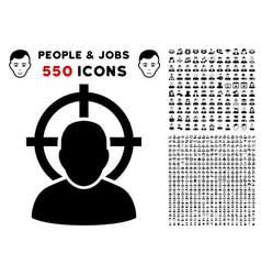 shoot person icon with bonus vector image