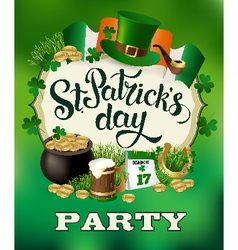 St Patricks Day Party Poster vector image