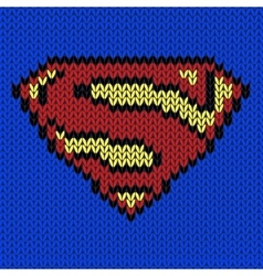Super hero knitted logo vector