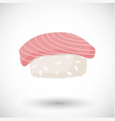 sushi flat icon vector image