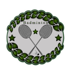 The theme badminton vector