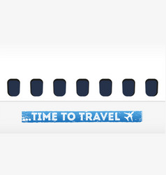time to travel in flat design vector image