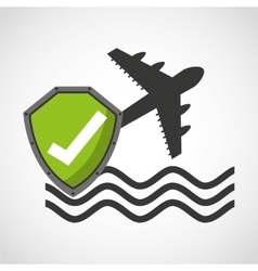 Travel insurance concept icon vector