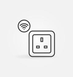 uk wi-fi smart socket outline icon or logo vector image