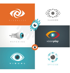 visual media logos symbols icons and signs vector image