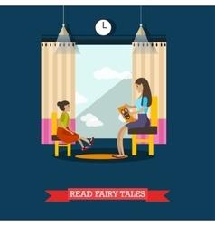 volunteer reading fairy vector image