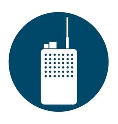 Walkie talkie radio icon image vector