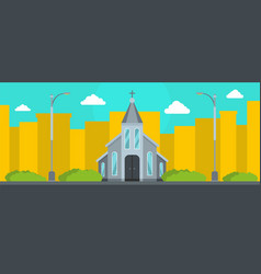 Western church banner flat style vector