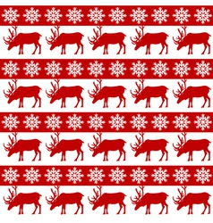 Winter design with reindeer and snowflackes vector image