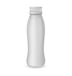 yogurt plastic bottle vector image