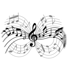 Abstract musical composition vector image vector image