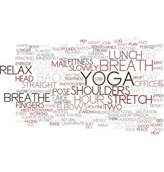 Ten minute yoga plan to pep up text background vector