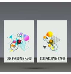 Abstract geometric image Set in beautiful design vector image