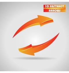 abstract orange arrows 3d vector image