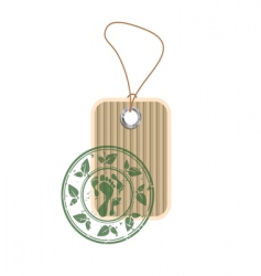 Paper tag with stamp vector