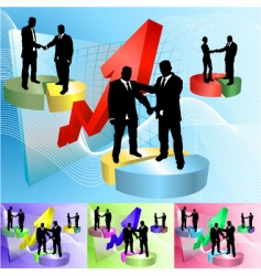 piechart people business concept illustration vector image vector image
