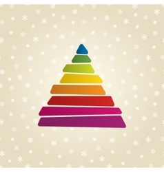 Triangle shaped banner vector image vector image