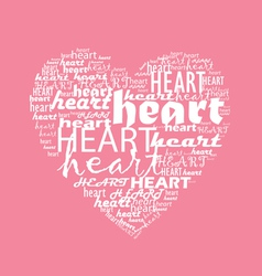 love typography with heart shape vector image vector image