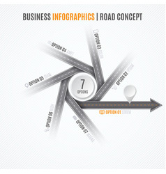 navigation map infographic concept crossroad with vector image vector image