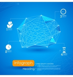Networking Infographic Background vector image vector image