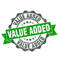 value added stamp sign seal vector image vector image