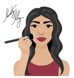 with sexy girl with brush vector image