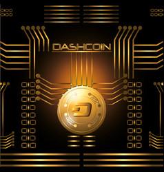 dashcoin coin icon vector image vector image