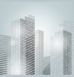 Downtown skyscrapers city background vector