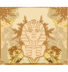 Abstract grunge frame - great sphinx giza vector