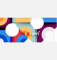 abstract round elements composition background vector image