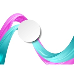 Abstract smooth wavy background vector