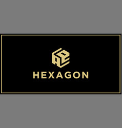 ae hexagon logo design inspiration vector image