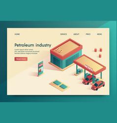 banner is written petroleum industry lettering vector image