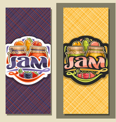 banners for fruit jam vector image