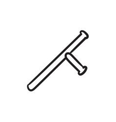 Baton sketch icon vector