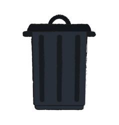 Big garbage ecological jar vector